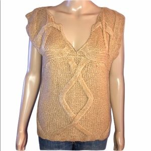 Tory Burch sleeveless wool cable knit sweater